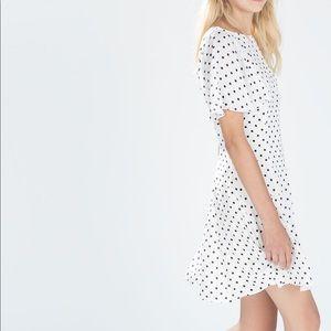 Zara TRF Black/White Polka Dot Dress